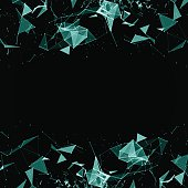 Abstract digital background with cybernetic particles illustration esp 10