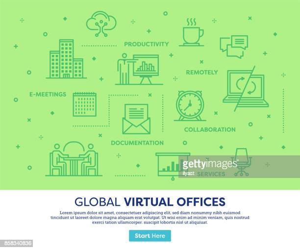 Virtuele kantoren Concept