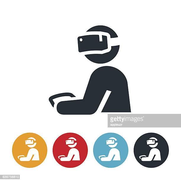 Virtual Reality Gamer Icon