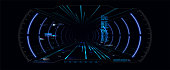 Virtual reality.Futuristic VR Head-up Display Design. Sci-Fi Helmet HUD. Future Technology
