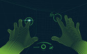 concept of virtual reality technology, point of view from vr glasses