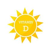 Vitamin D sun design. Vector illustration