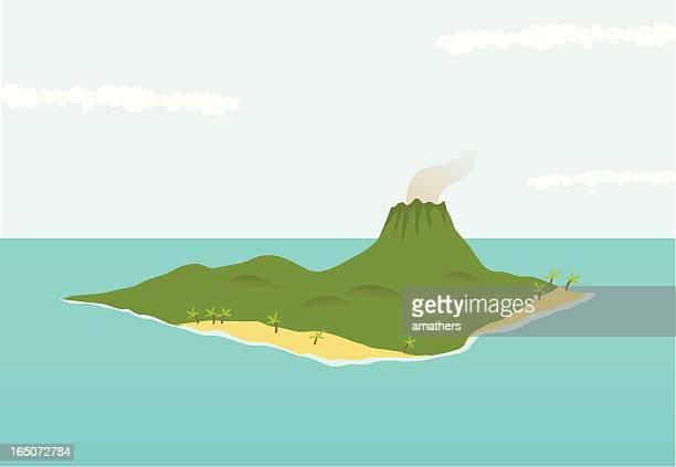 Vulkanische Insel Isle