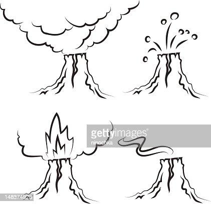 volcano : Vektorgrafik