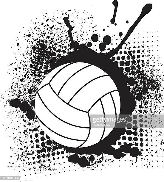 Volley Ball Grunge Design