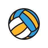 volleyball ball symbol