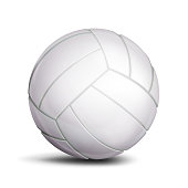3D Volleyball Ball Vector. Classic White Ball. Illustration