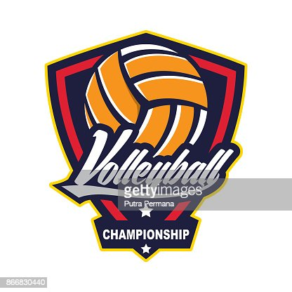 Volleyball design template : stock vector