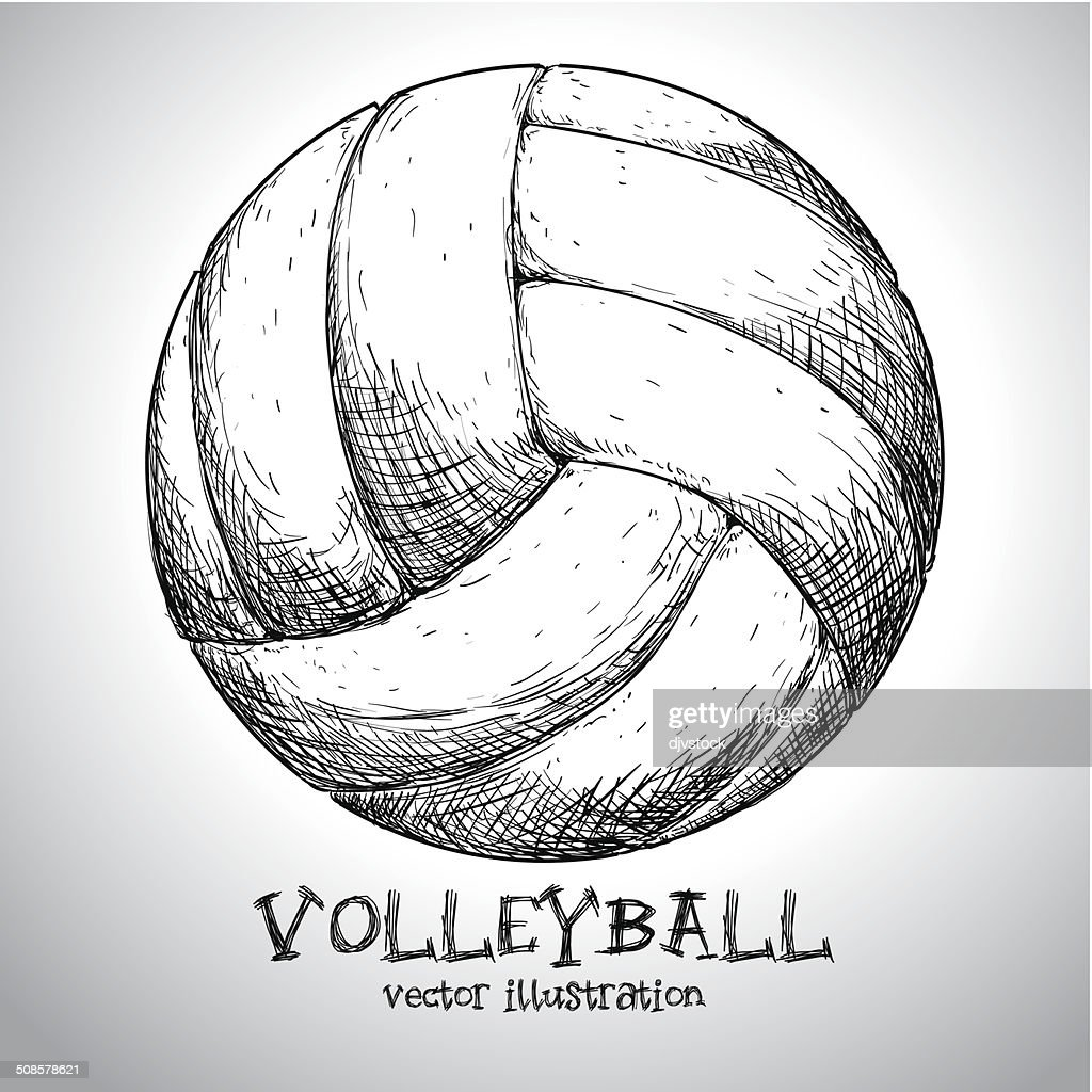 volleyball design : Vector Art