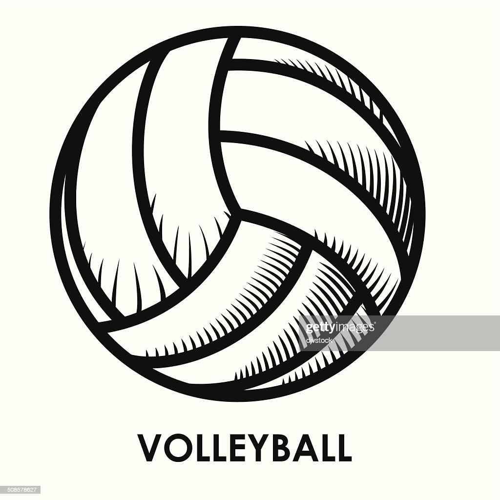 volleyball design : Vectorkunst