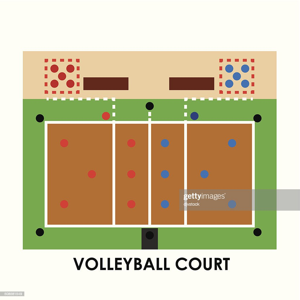 volleyball-design : Vektorgrafik