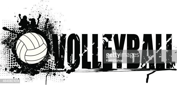 Abstract Grungy Background With Volleyball Arrowhead: Volleyball Grunge Graphic Background Vector Art