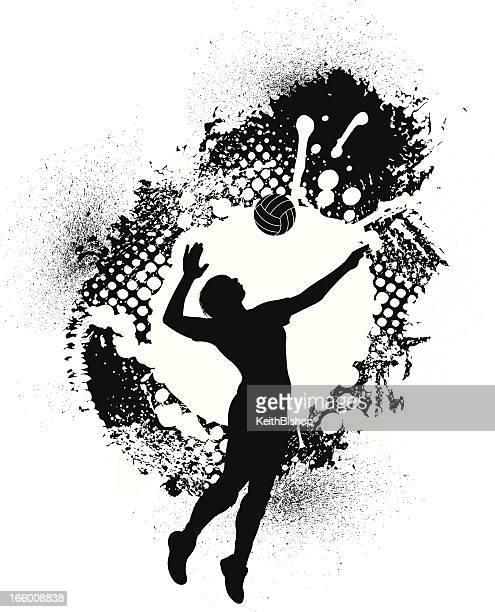 Volleyball Grunge Graphic - Girls