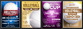 Volleyball Poster Vector. Design For Sport Cafe, Pub, Bar Promotion. Beach. Volleyball Ball. Modern Tournament. Championship Label A4 Size. Volley. Game Banner Template Advertising Illustration
