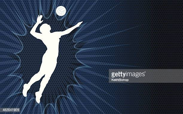 Volleyball Serve Background - female