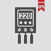 Voltage relay icon.Vector illustration.