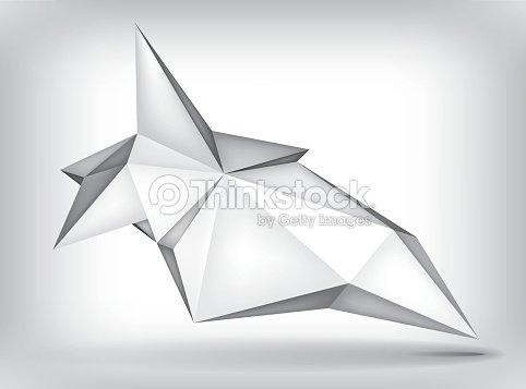 Forme Geometrique Volume 3d Crystal De Levitation Objet Creatif