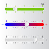 Volume scale. Vector illustration.