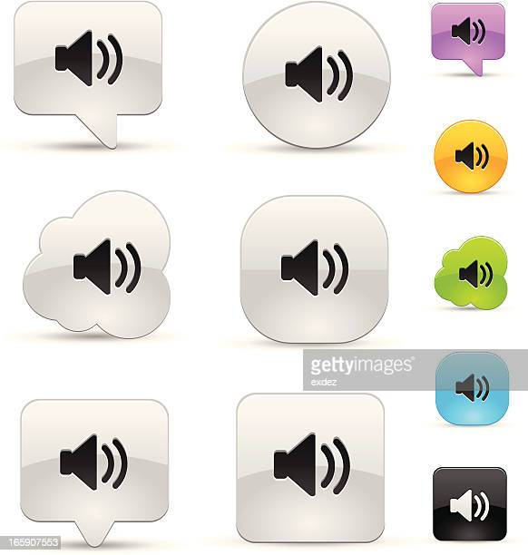 Volume sound icon set
