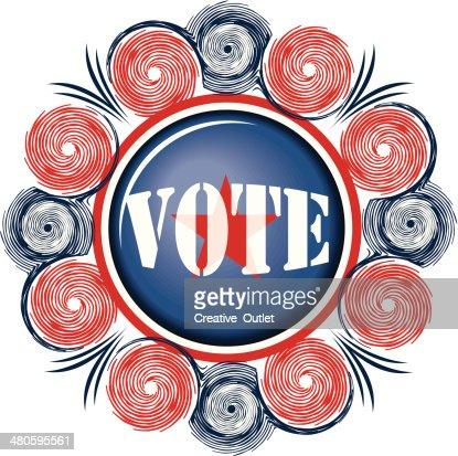Vote Flourish C : Vector Art
