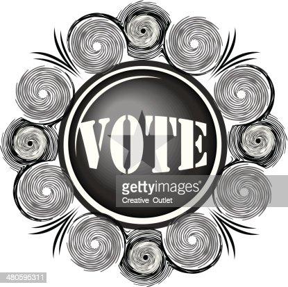 Vote Flourish : Vector Art