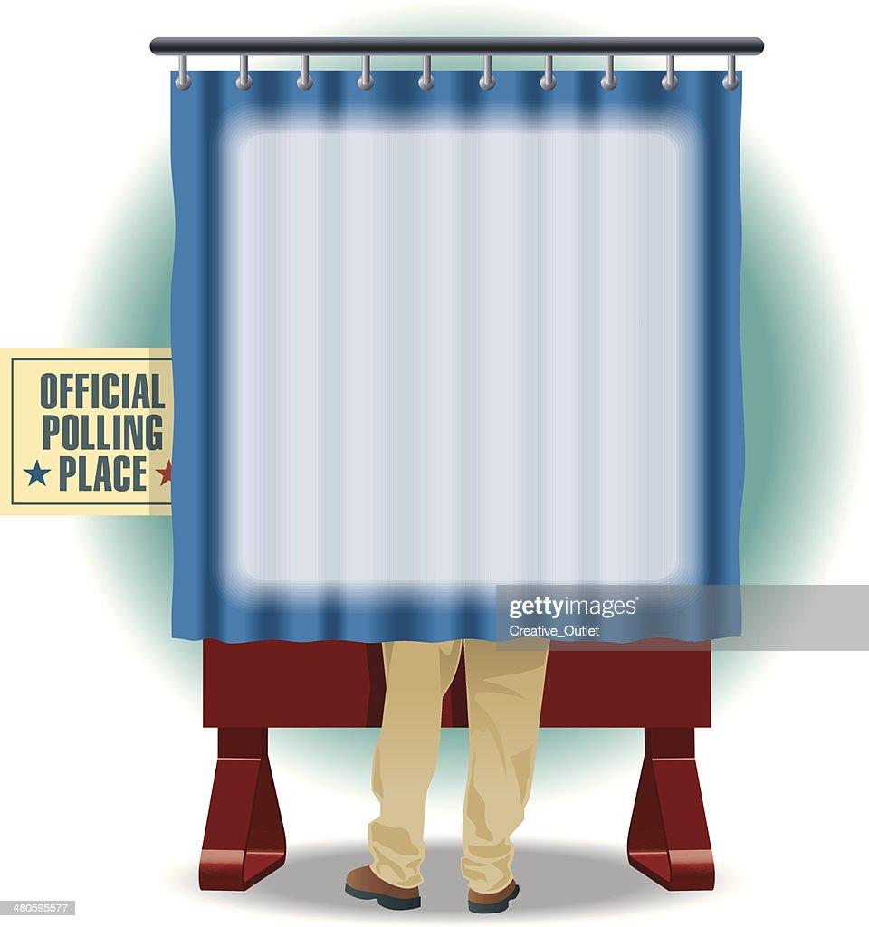 Voting Booth Mortice C : Vector Art