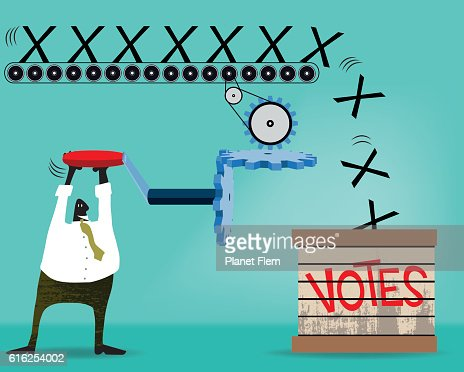 Voting machine : Arte vectorial