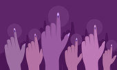 Voting power of Indian women. Conceptual illustration