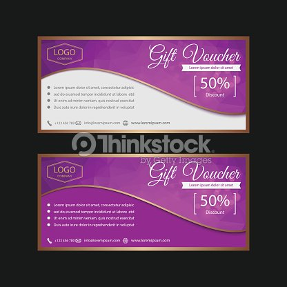 Voucher Gift Certificate Coupon Template Vector Art Thinkstock