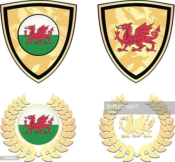 Wales Golden Shields And Garlands