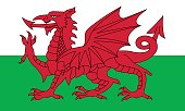 Vector of nice Welsh flag.