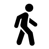 Walk vector icon