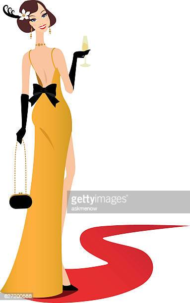 Walking on a red carpet