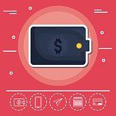 wallet Fintech Investment Financial Internet Technology Concept vector illustration graphic design