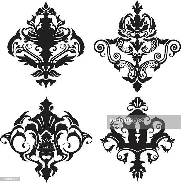 Des éléments de décoration papier peint