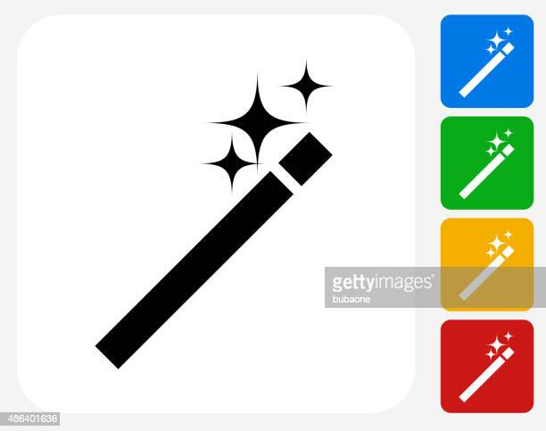 Wand Icon Flat Graphic Design