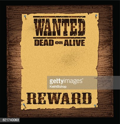 Wanted Poster Background Vector Art – Old Fashioned Wanted Poster