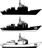 War Military Ship vector illustration.