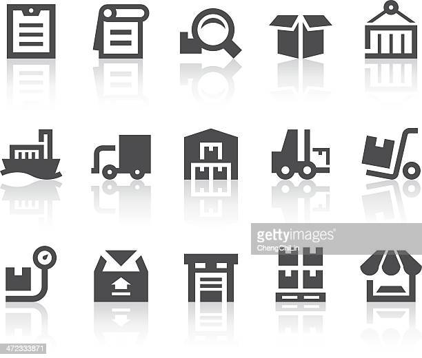 Warehouse Management Icons | Simple Black Series