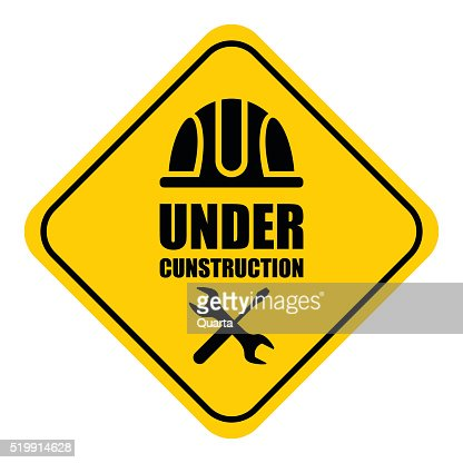 Warning Sign Under Construction Logo Vector Art | Thinkstock Under Construction Logo