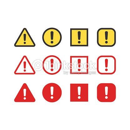 d2f3f292d5bf3 Conjunto de señales de advertencia   arte vectorial