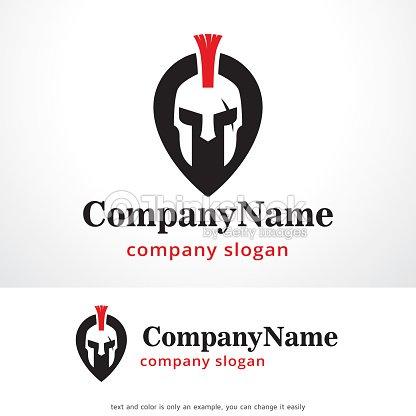 Warrior Point Symbol Template Design Vector Emblem Concept Creative Icon