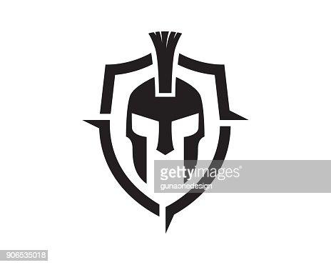 Warrior Symbol Template Design Vector, Emblem, Design Concept, Creative Symbol, Icon : stock vector