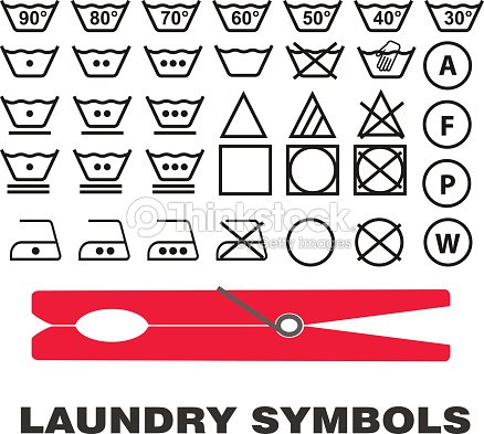 Wash Care Symbols Vector Vector Art Thinkstock