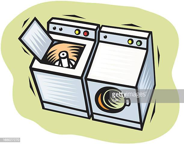Tumble Dryer Cartoon ~ Tumble dryer stock illustrations and cartoons getty images