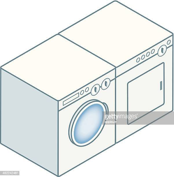 Cartoon Washer And Dryer ~ Dryer stock illustrations and cartoons getty images