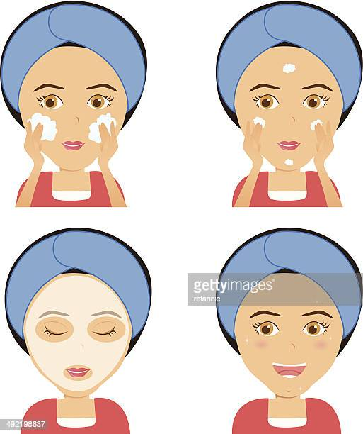 Washing Face - step by step