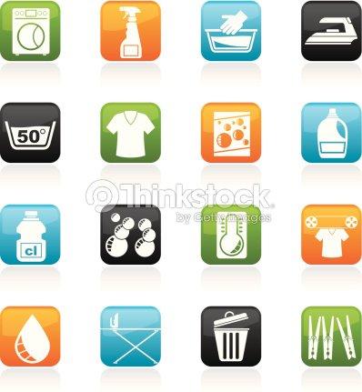 machine laver et les ic nes de la blanchisserie clipart vectoriel thinkstock. Black Bedroom Furniture Sets. Home Design Ideas