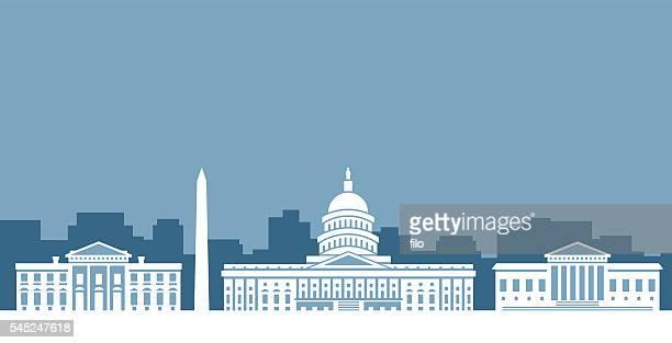 Washington D.C. Government Skyline