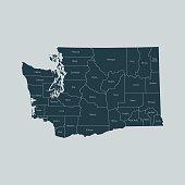 vector map of Washington